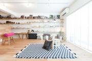可動棚6m!「見せる収納」が美しいおひとり様リノベ